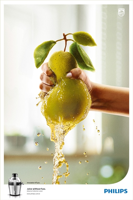 Juice Without Fuss - Squeeze the fruit with Philips Juicer