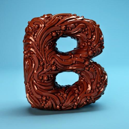 Typography Food Sculptures