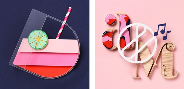 Handmade food Typography for Fazer by Snask Agency