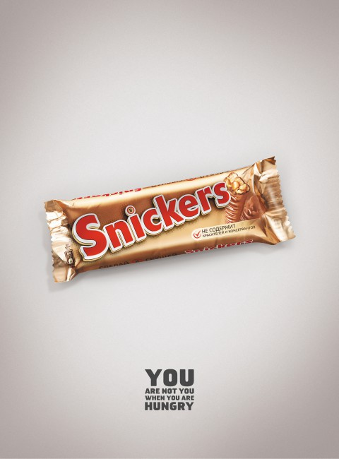 New Snickers Ads Imagines Snickers as other Snackbars