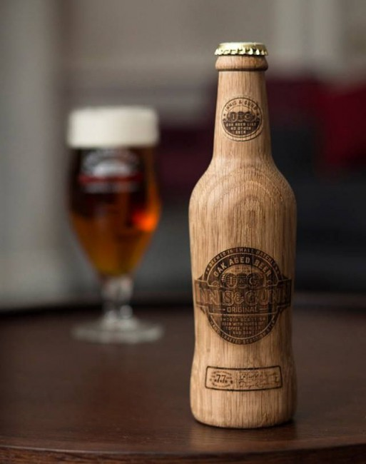 Wood beer bottle, Wood Food Packaging - 10 Great Ideas