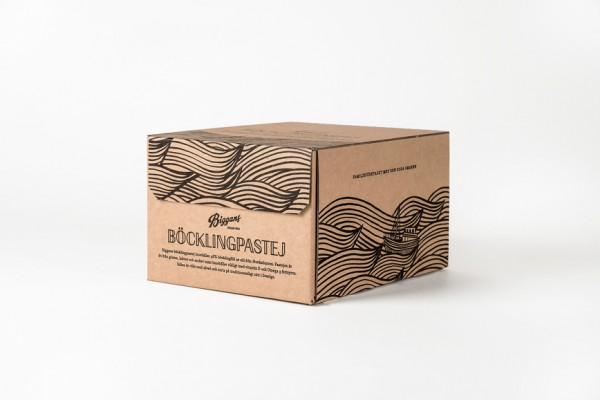 Fish in tube - New packaging for Biggans Böcklingpastej