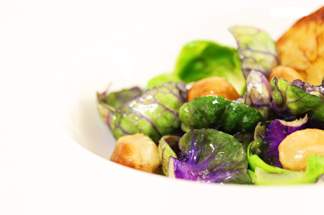 Brussel Sprouts with Hazelnuts, Lemon and Butter