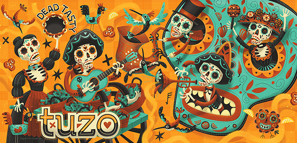 Steve Simpson Dias del Muerto Illustration 2
