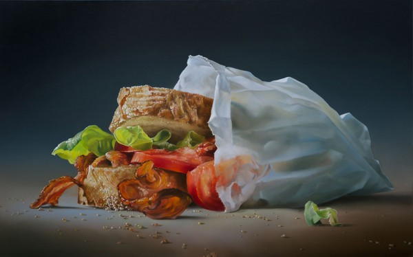 Photorealistic food paintings by Tjalf Sparnaay