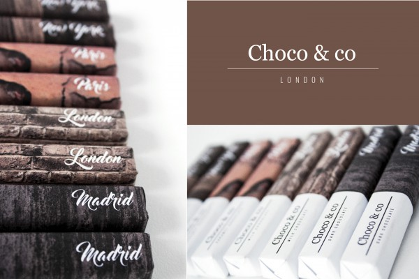 Choco & Co Big City Chocolate Packaging based on the materials of each city