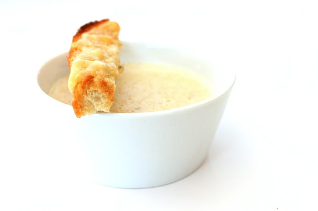 Chanterelle Mushroom Soup with Parmesan Toast