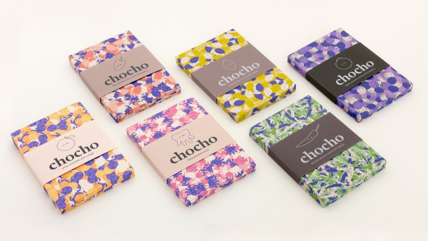 Chocho Chocolate Packaging With Colorful Cool Patterns