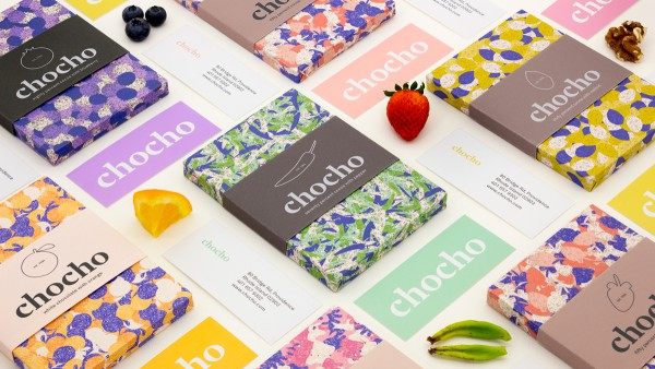 cool shapes and designs chocho chocolate packaging with colorful cool patterns