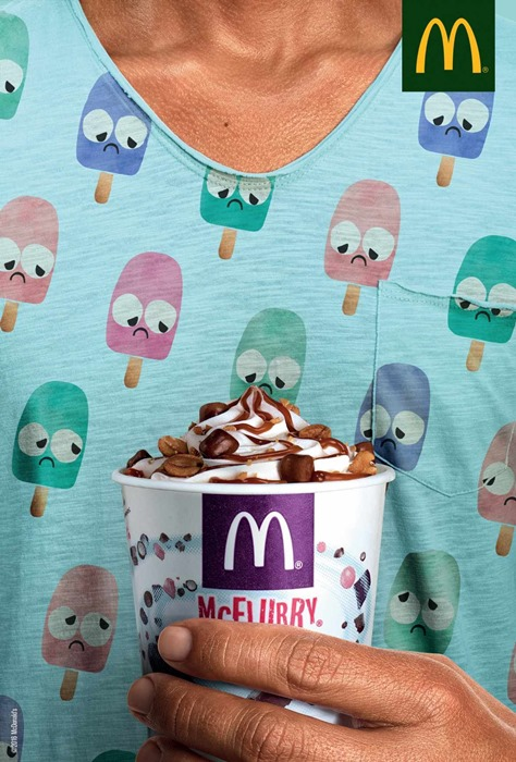 McFlurry Ads makes ice cream sad in these fun McDonald's Ads.