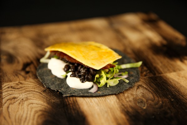 Pork Pineapple Taco with Black Beans & Jalapeno