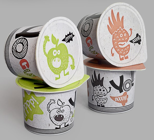 YOgurt Ugly Monsters Packaging Design