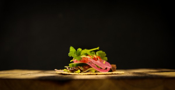 Beef Taco with Japanese Soy, Ginger, Pickles & Cilantro