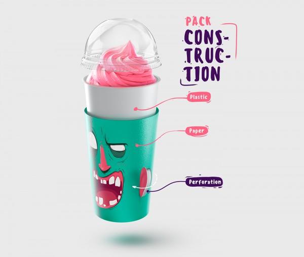 Cartoon Milkshakes - Great Milkshake Packaging Concept