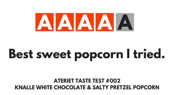Knalle Popcorn Taste Test at Ateriet