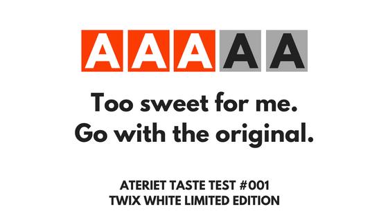 Twix White Taste Test
