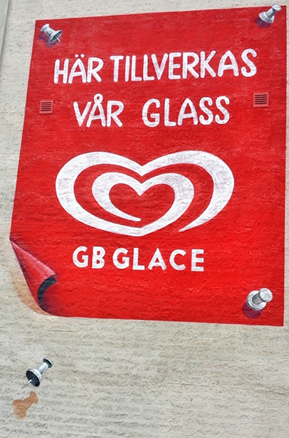 Ice Cream Art at Gb Glace in Sweden