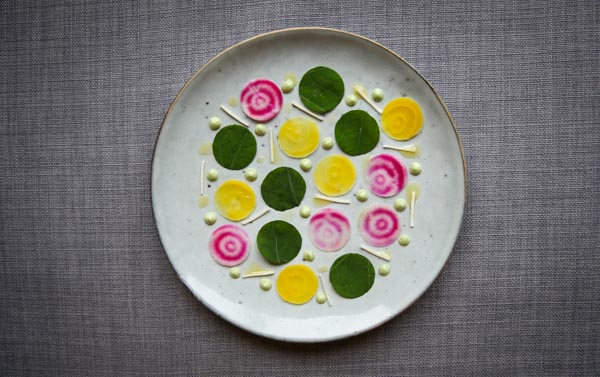 Pretentious Beet Salad With Horseradish, Cress And Fennel Mayonnaise