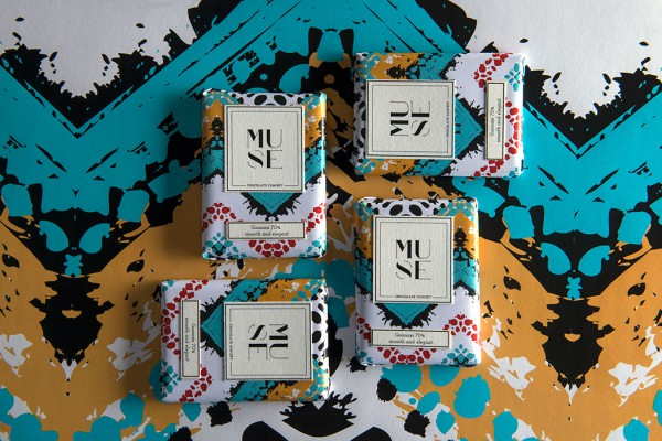 Colorful Chocolate Packaging For Muse Chocolate