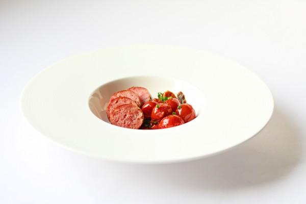 Italian Salsiccia with Rustic Tomato Sauce