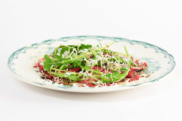 Beef Carpaccio with Arugula and Balsamic Vinegar
