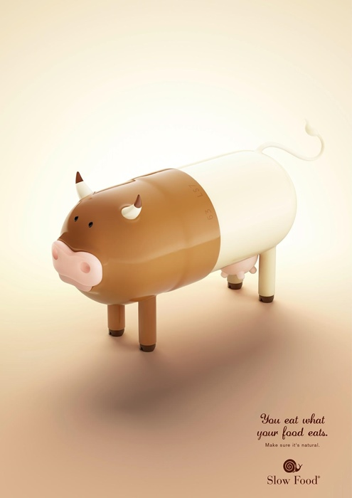 Clever Slow Food Ad Campaign - Pill Farm Animals - Ateriet.com