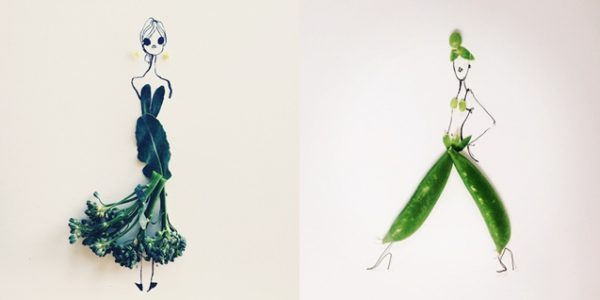 Food Illustrations Completed with Real Food