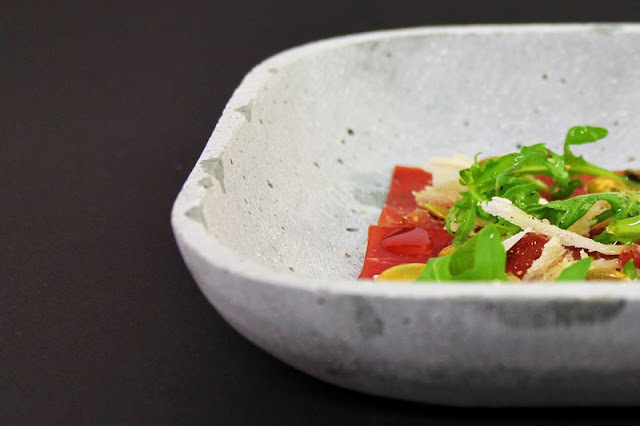 Bresaola with Parmesan Cheese, Arugula & Pumpkin Seeds