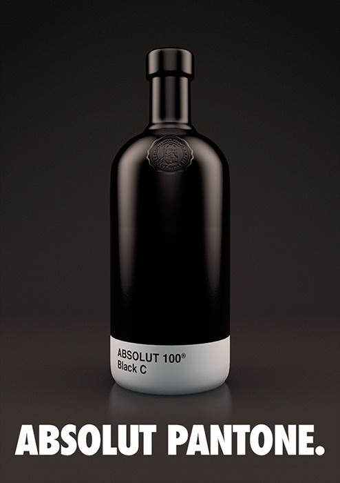 Absolut Vodka Pantone Packaging