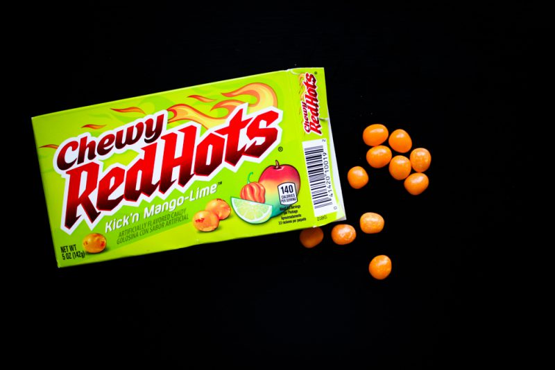 Chewy Red Hots Kick´n Mango-Lime Taste Test