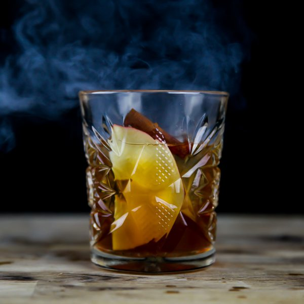 Smoked Old Fashioned With Apple And Cinnamon