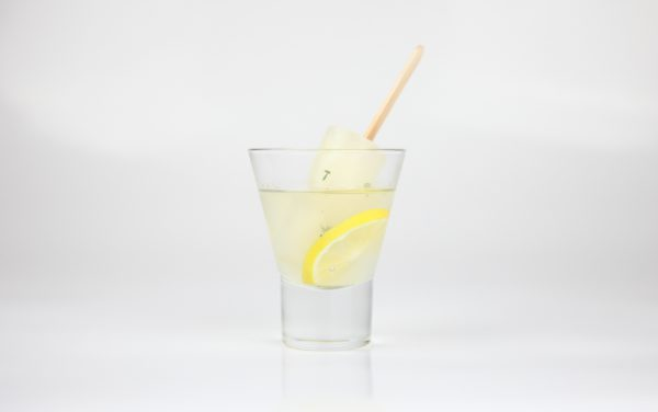 Lemon Vodka Ice Pop Cocktail with Thyme