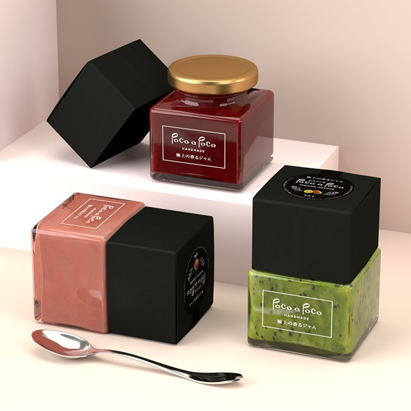 Square Jam Jars Designed Like Nail Polish