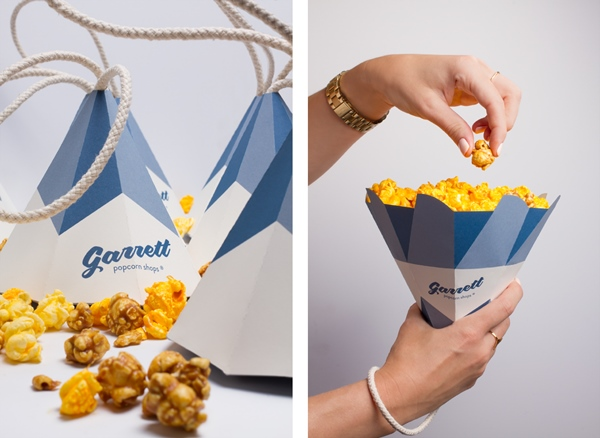 Cool Cone Popcorn Packaging for The Garrett Popcorn Shops