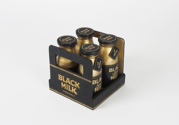 Great Golden and Black Bottle Packaging Design