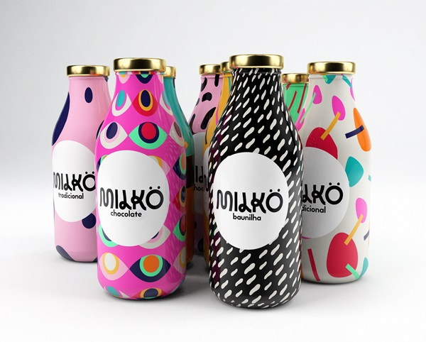 Take A Look At This Colorful Milk Packaging Design