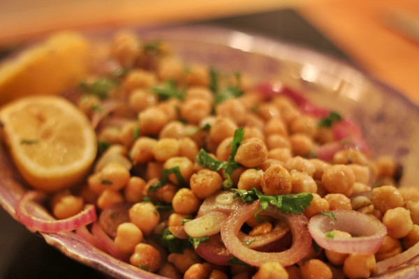 Pan Fried Chickpeas with Cumin, Garlic & Lemon