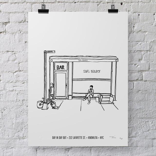 illustration of a café