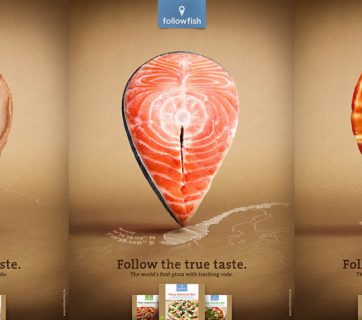 Follow Your Pizza - Clever Ads For The First Pizza With A Tracking Code