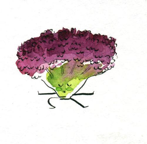 Fruit Doing Yoga - Adorable Fruit Illustrations By Marta Prior