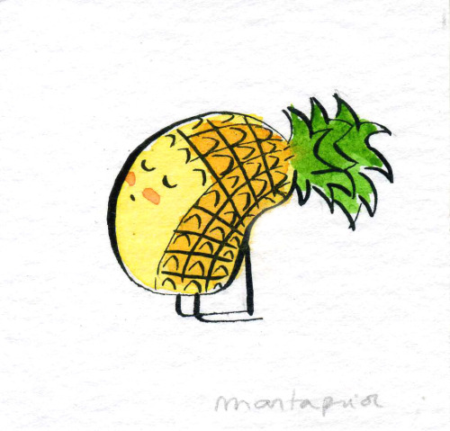 Fruit Doing Yoga - Adorable Fruit Illustrations By Marta Prior