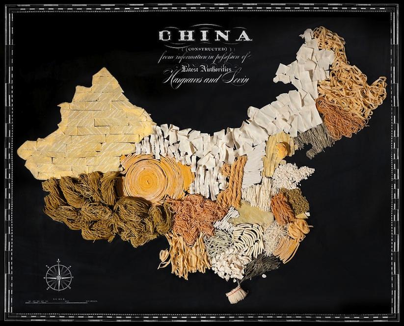food map of china
