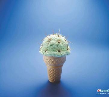 crest ice cream toothpaste ad with cactus