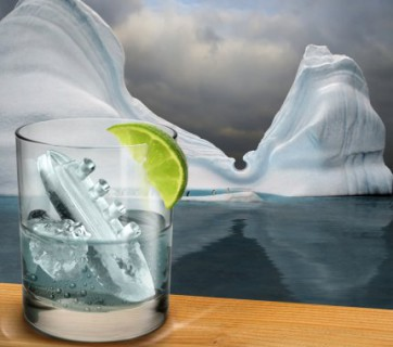 titanic ice cube