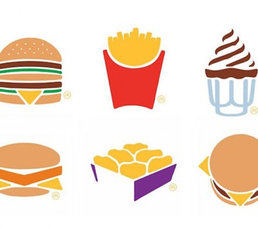 mcdonalds ad campaign with minimalistic design