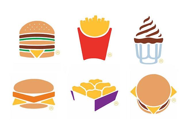 mcdonalds ad campaign with minimalistic design