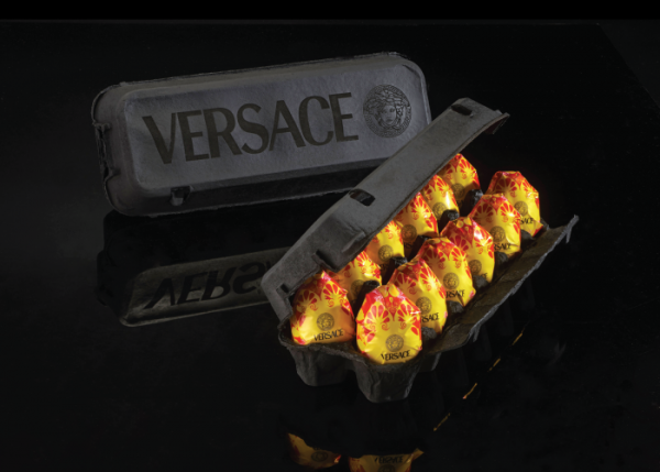 Luxurious food packaging, Versace eggs luxury egg packaging