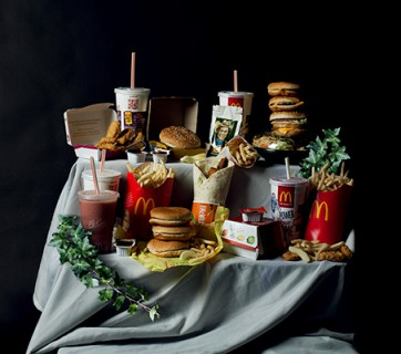 Mcdonalds still life photo, contemporary pieces