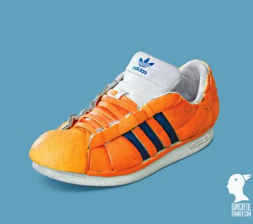 adidas shoe made of oranges