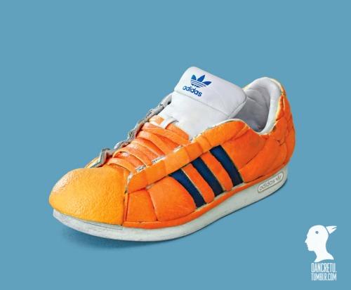 adidas shoe made of oranges